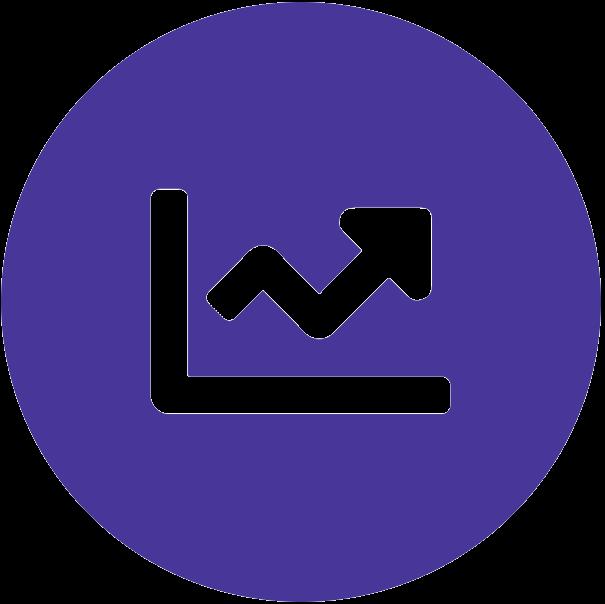 Croissance chart icône